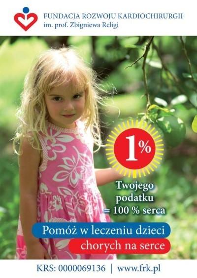 1% podatku dla  dzieci chorych naserce