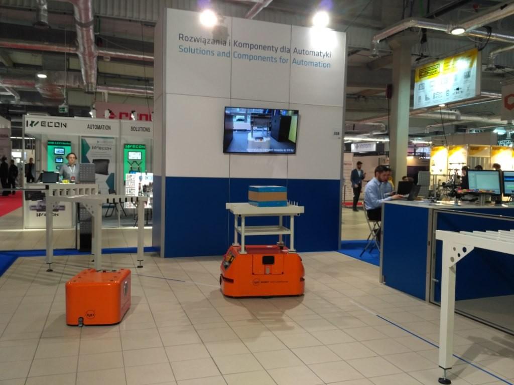 MOBOT AGV mobile robots at WIW 2018
