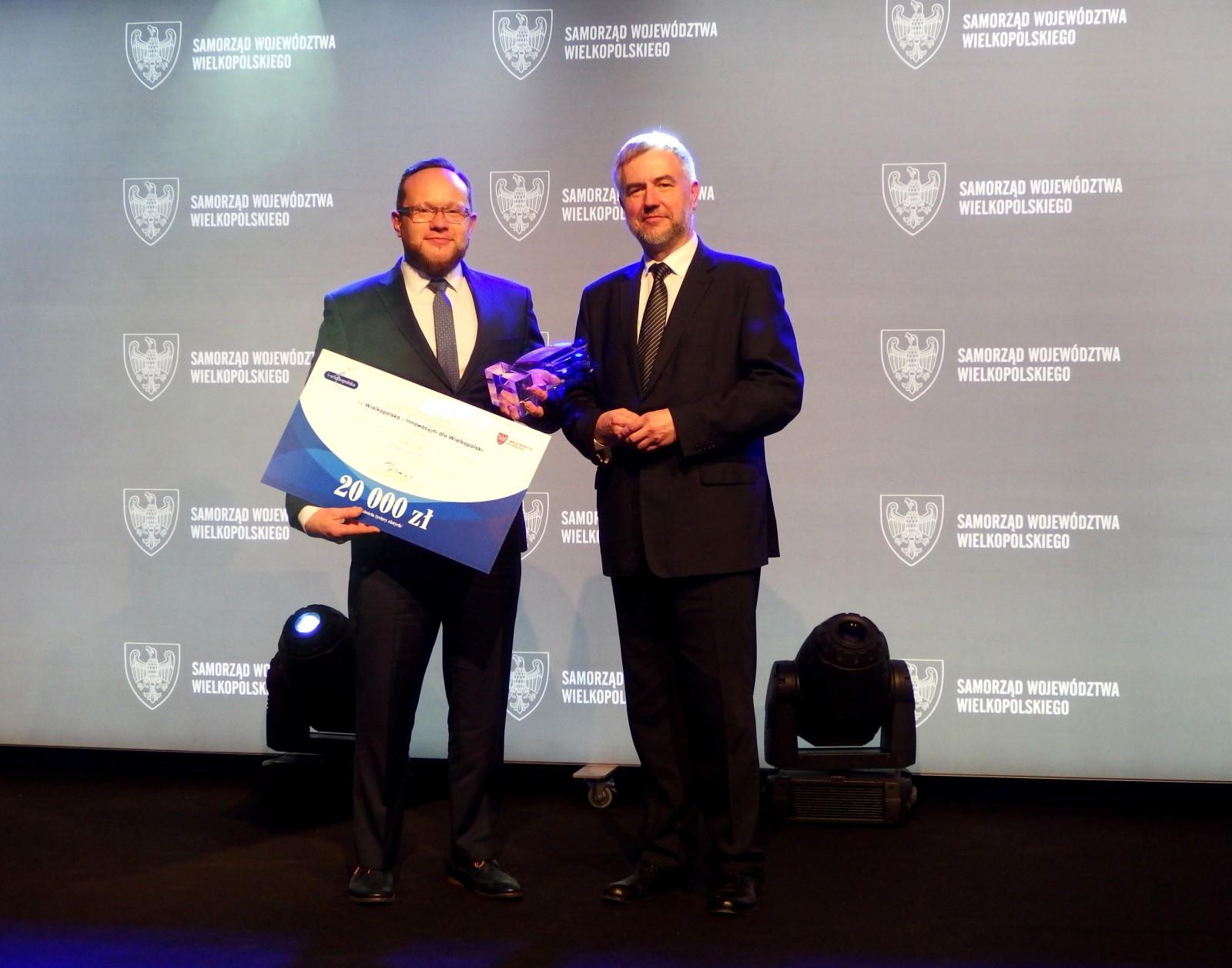 """Firma WObit zwycięzcą wkategorii Przemysł Jutra konkursu """"i-Wielkopolska – Innowacyjni dla Wielkopolski"""""""