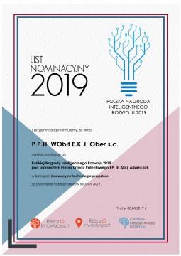WObit nominowany doPolskiej Nagrody Inteligentnego Rozwoju 2019