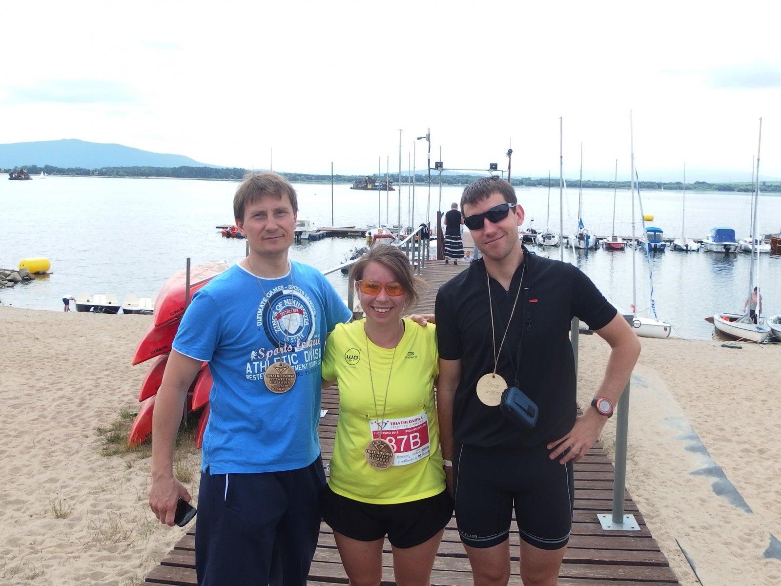 WObit wTriathlonowej Sztafecie Firmowej 2016